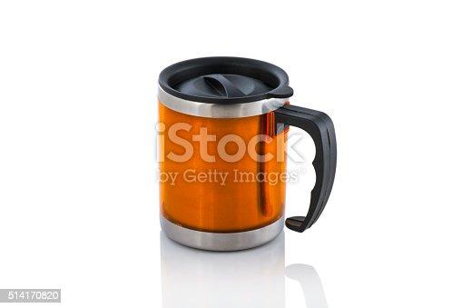 istock Aluminum mug isolated on white 514170820