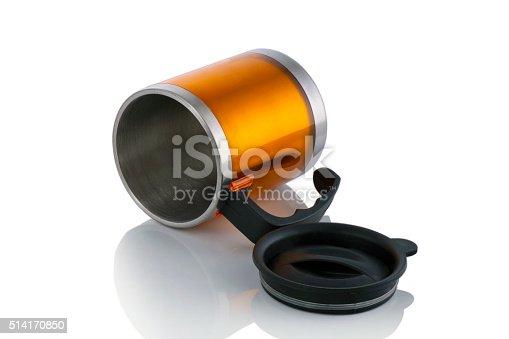 istock Aluminum mug isolated on white 514170850