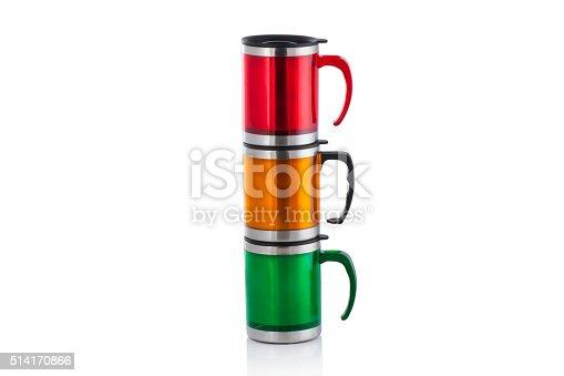 istock Aluminum mug isolated on white 514170866