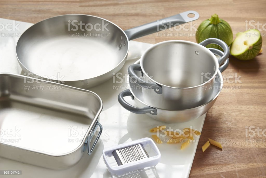 aluminum pans royalty-free stock photo