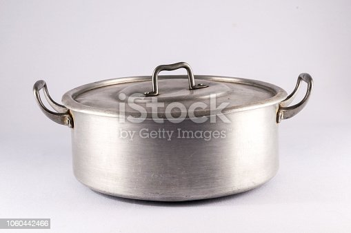 Picture of an Old Vintage Aluminium Pot