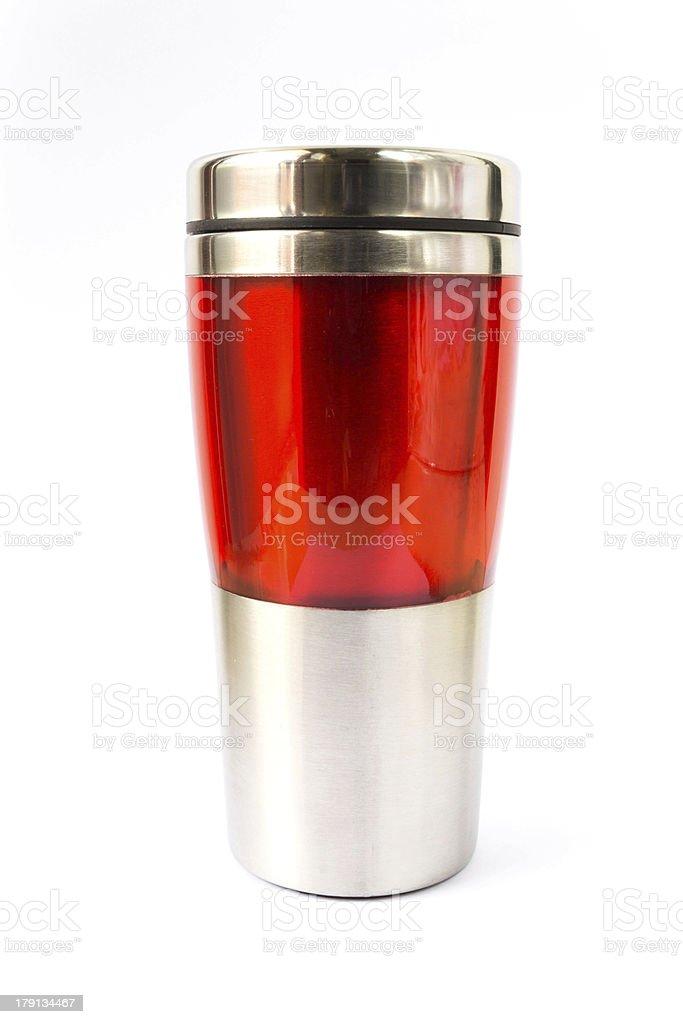 Aluminum  red mug royalty-free stock photo