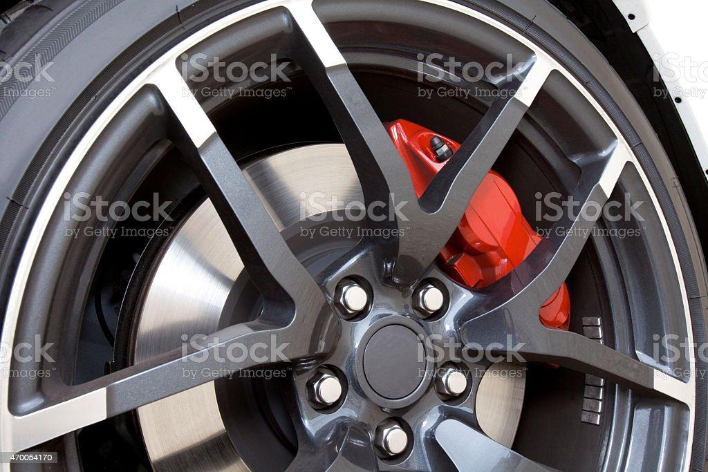 Aluminum Rim. stock photo
