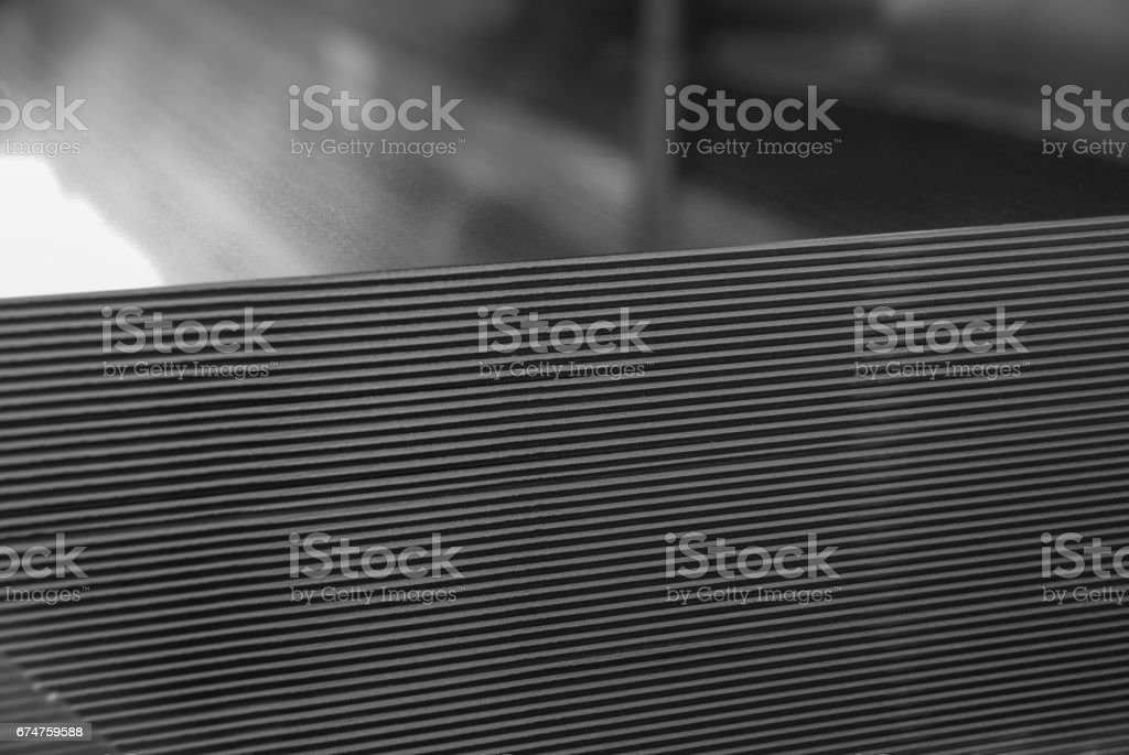 Aluminum sheet metal plates stacked stock photo