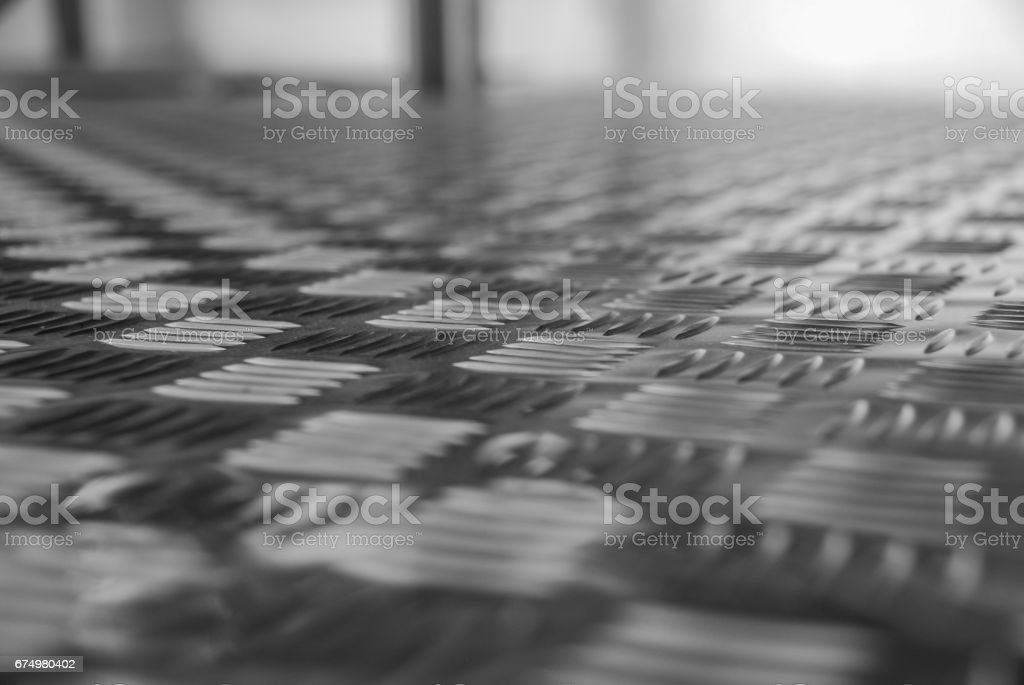 Aluminum sheets with diamond plate pattern royalty-free stock photo
