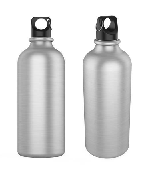 garrafa de alumínio sport isolada - sports water bottle - fotografias e filmes do acervo