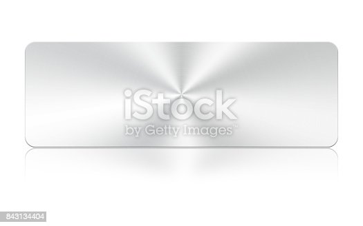 istock Aluminum square icon on white background,Clipping Path. 843134404