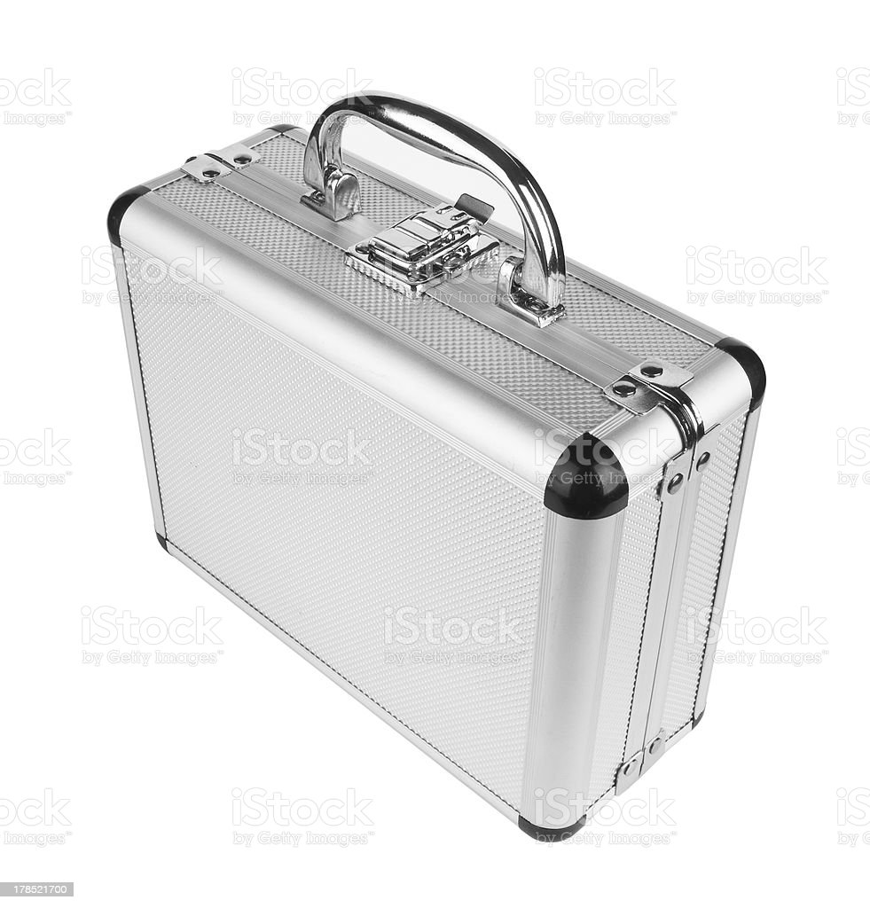 Aluminum suitcase royalty-free stock photo