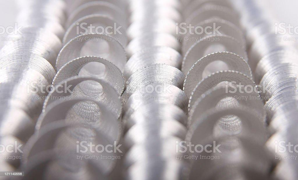 aluminum swarfs royalty-free stock photo