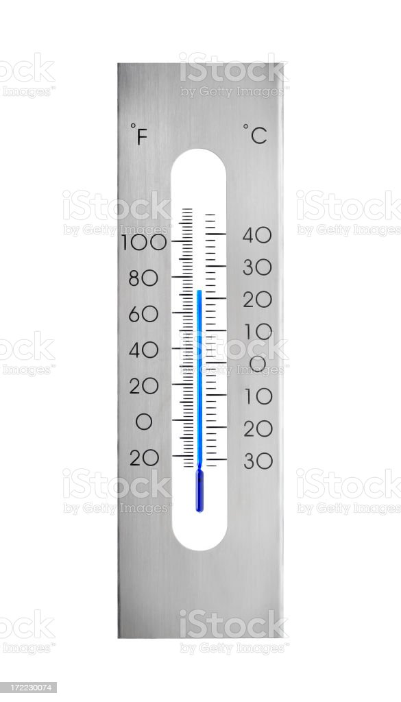 Aluminum thermometer royalty-free stock photo