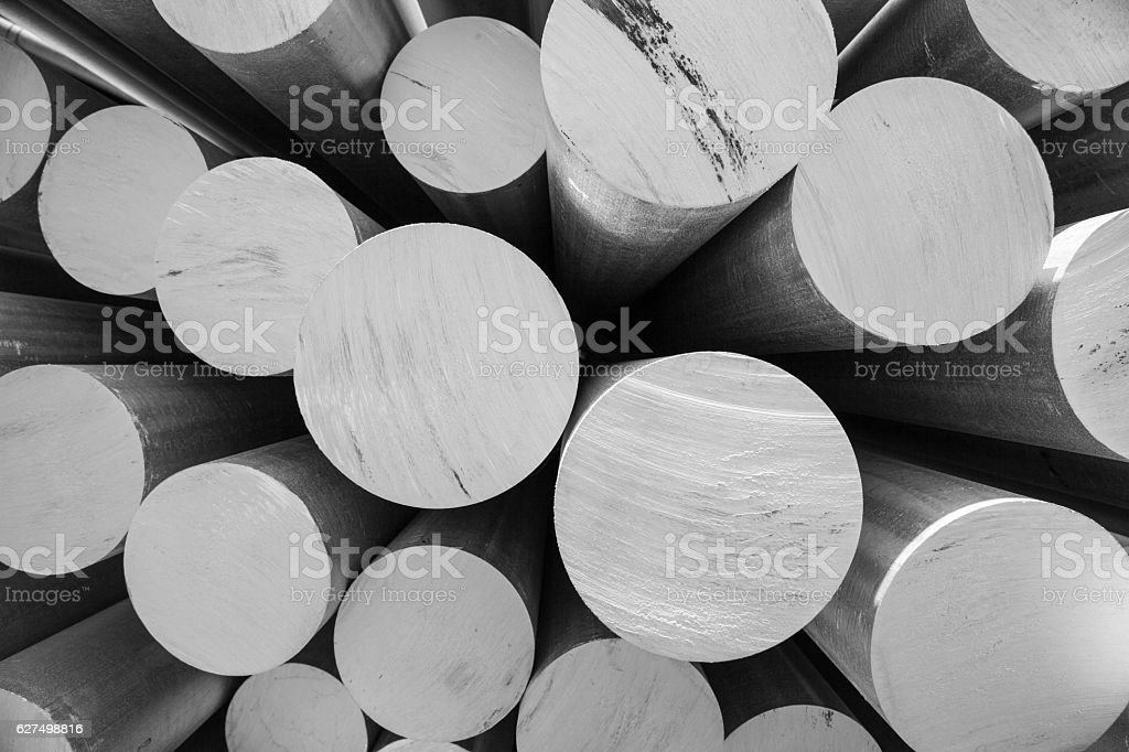 aluminum tubes as a raw material stock photo