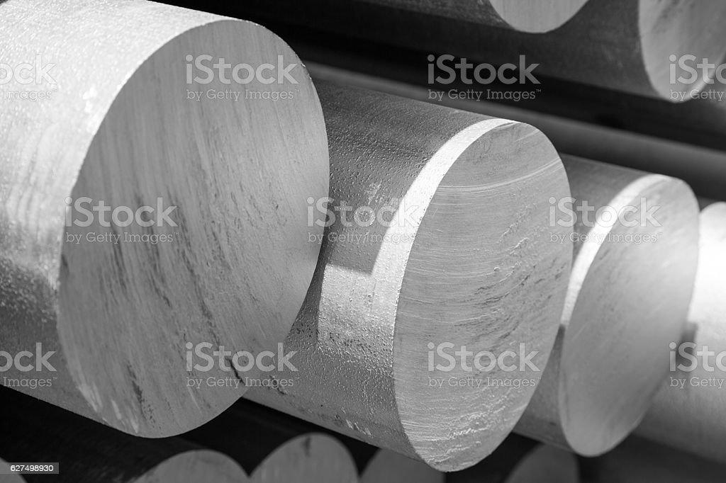 aluminum tubes as a raw material Lizenzfreies stock-foto