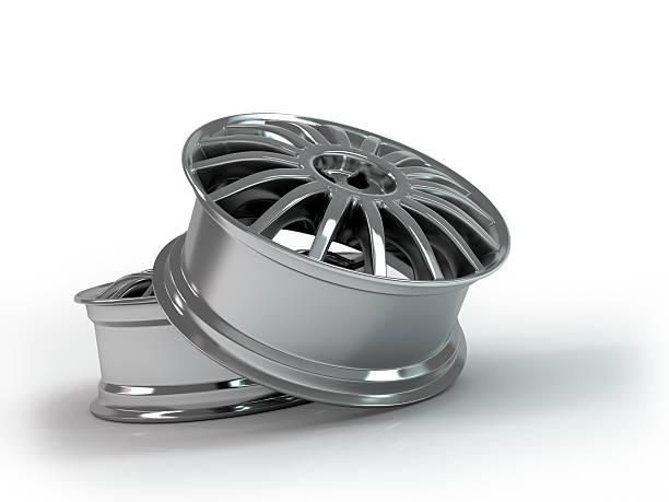 Aluminum wheel image 3D high quality rendering. Rim for car. stock photo