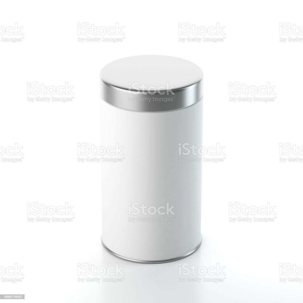 Foto De Embalagem De Caixa De Lata De Alumínio Branco Mockup Com