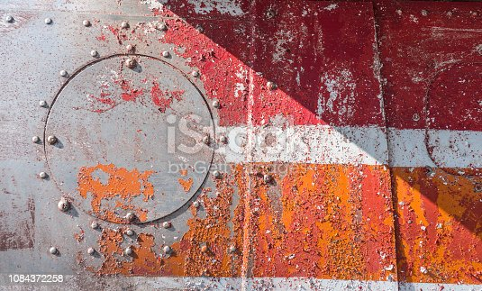 istock Aluminum with rivets 1084372258
