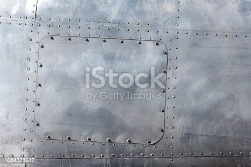 istock Aluminum with rivets 1084373612