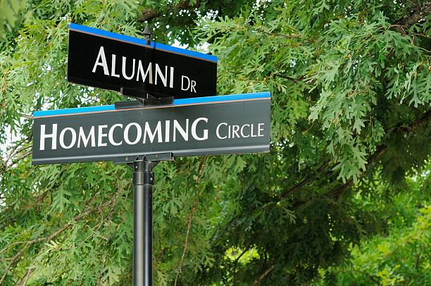 Alumni and homecoming signs  alumnus stock pictures, royalty-free photos & images