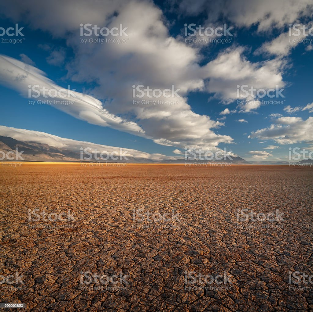 Alvord dry lakebed, Oregon, USA royalty-free stock photo