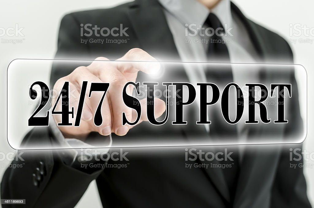 Always awailable support stock photo