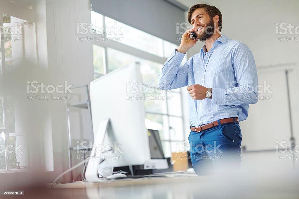 Always busy with a new deal stock photo