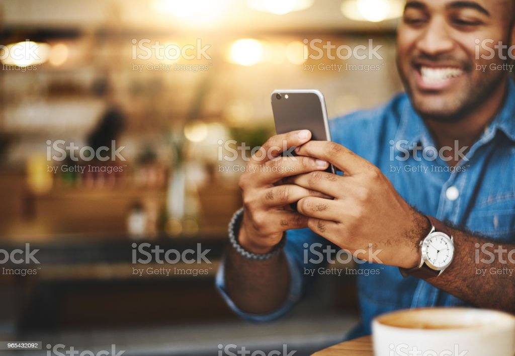 Always close to all his connections royalty-free stock photo