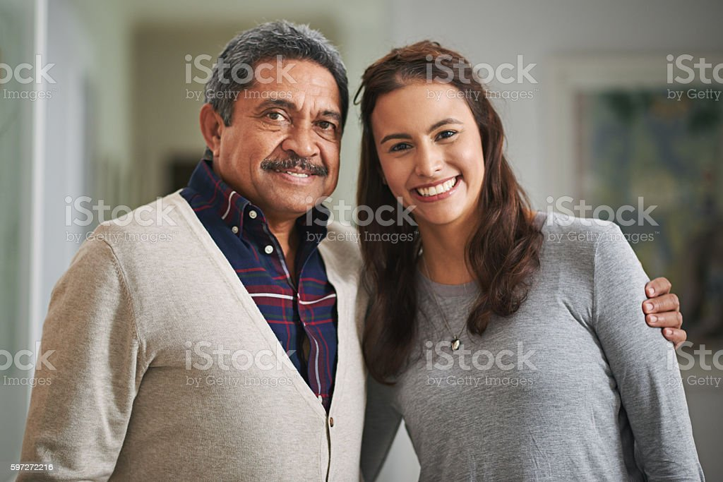 Always daddy's little girl royalty-free stock photo