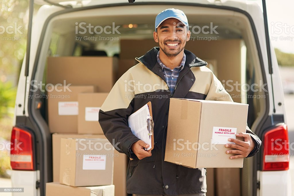 I always get deliver on time stock photo