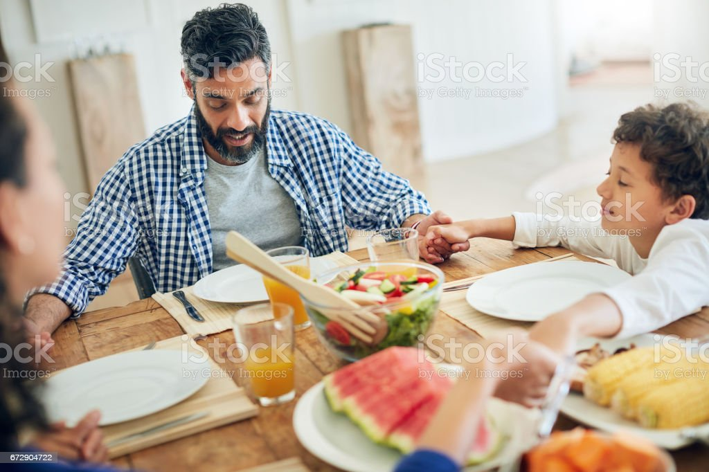 Always give thanks for your blessings stock photo