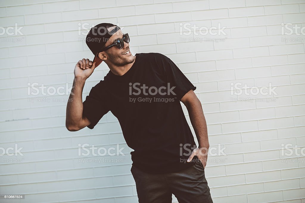Always in good mood. stock photo