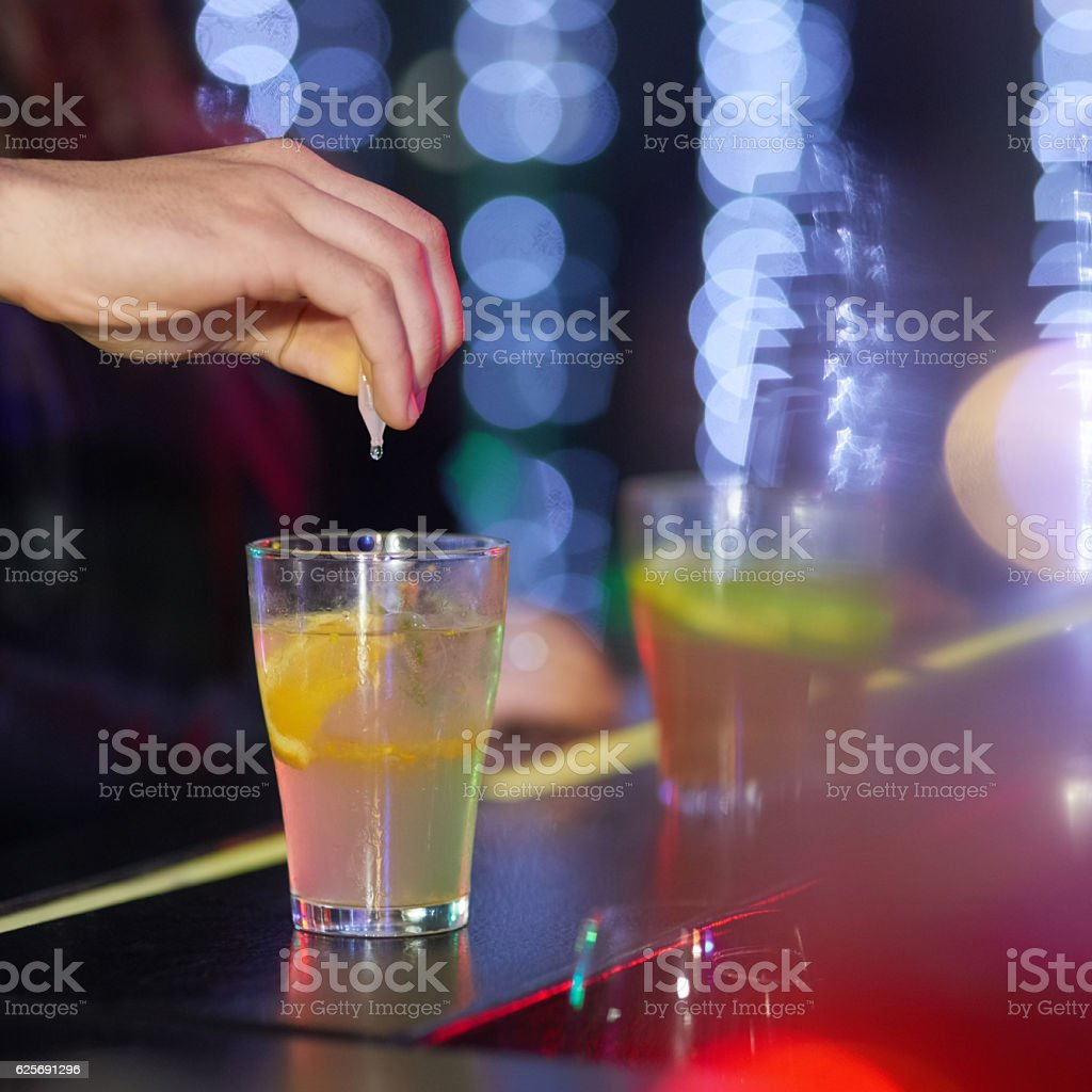 Always keep you eyes on your drink stock photo