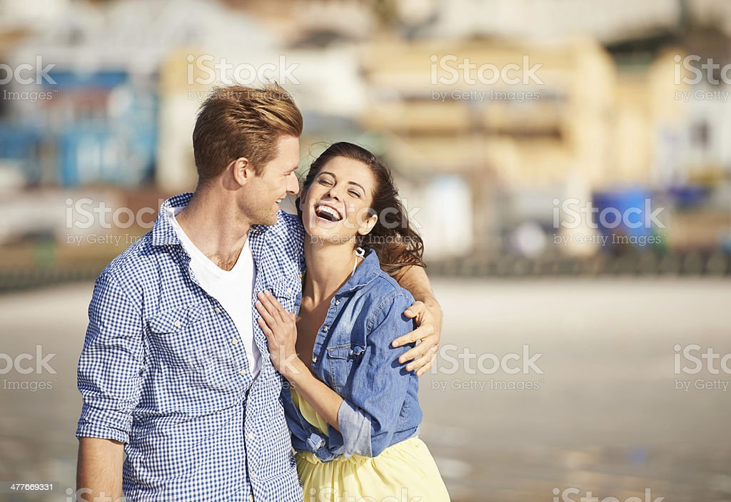 Always laughing together stock photo