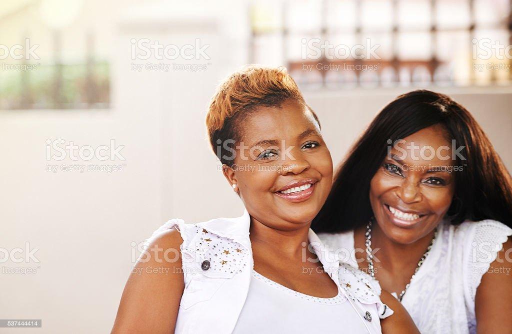 Always my sister, always my friend stock photo
