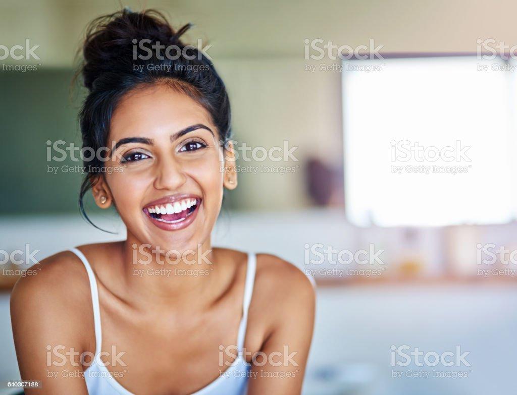 I always push happiness forward stock photo