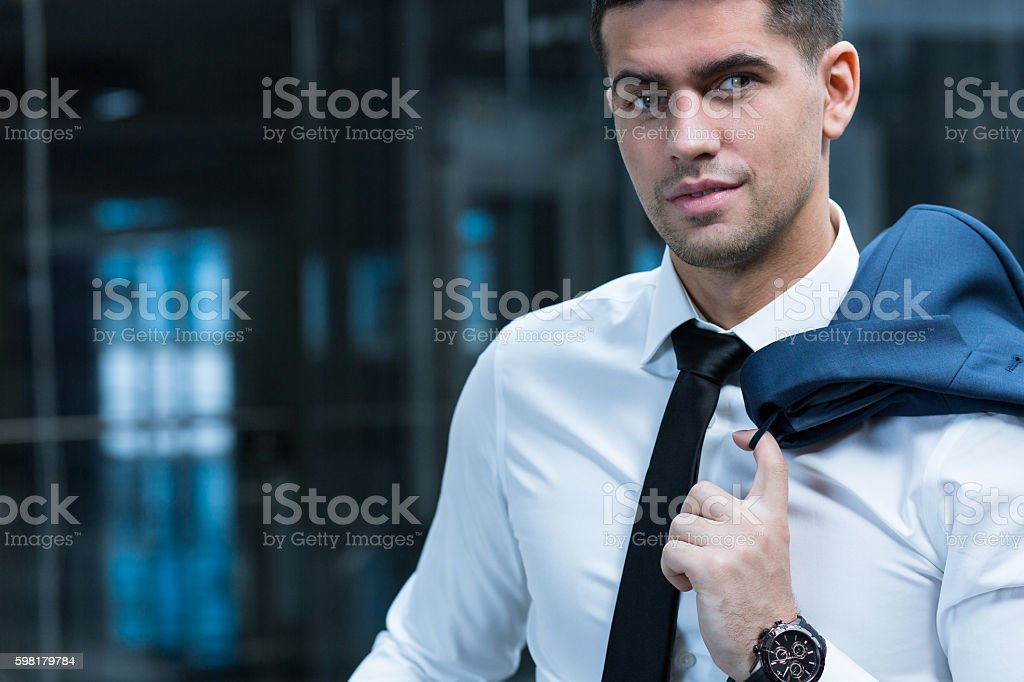Always ready for a small talk stock photo