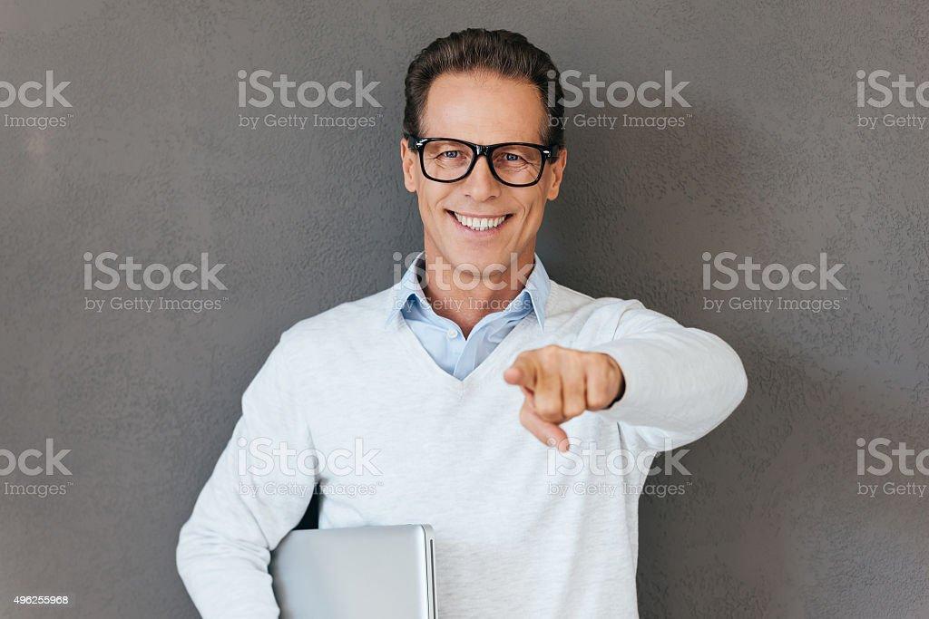Always ready to help you. stock photo