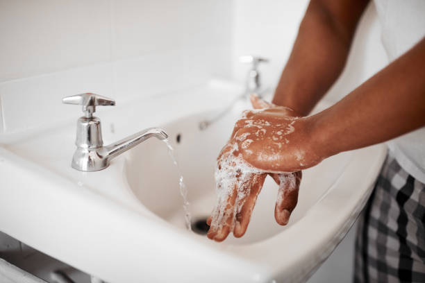Always start with clean hands stock photo