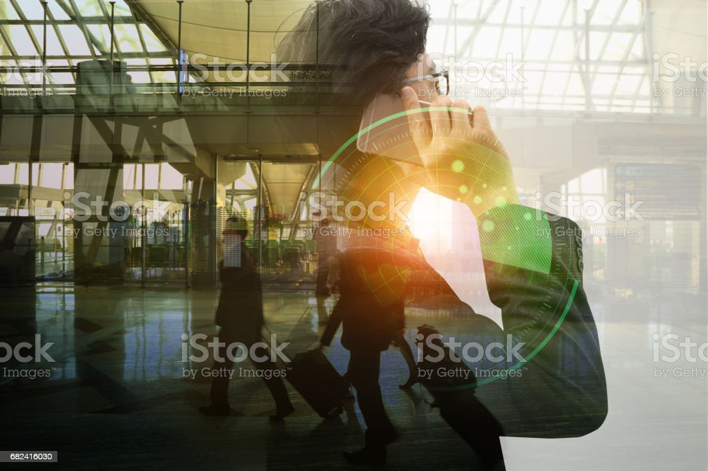 Always stay connected . Mixed media royalty-free stock photo