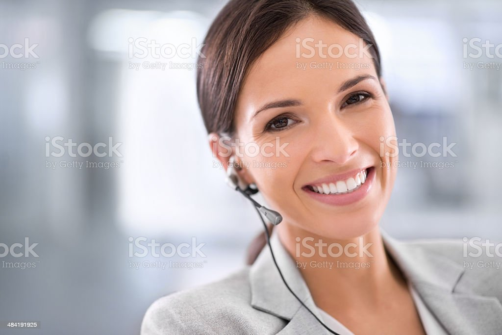 Always striving for new heights of customer service stock photo