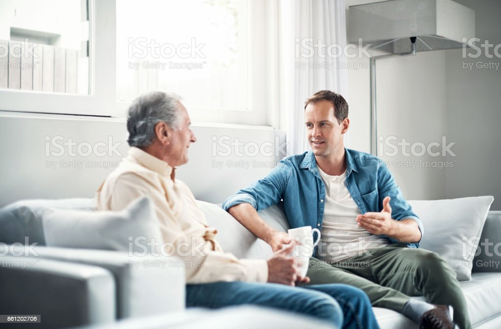Always there to have a heart to heart stock photo