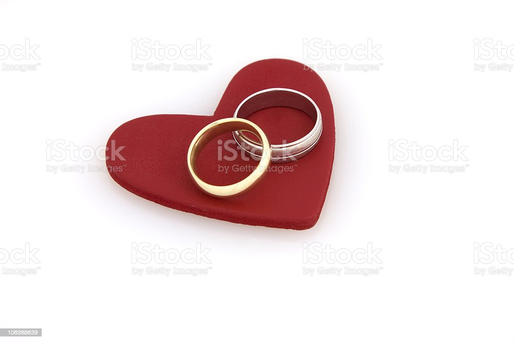Always Together - Heart and rings royalty-free stock photo