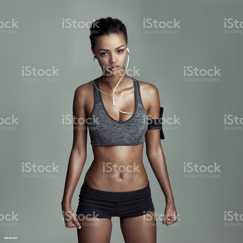 Always up for a fitness challenge stock photo