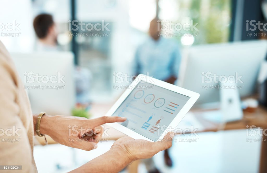 Always up-to-date with the latest software stock photo
