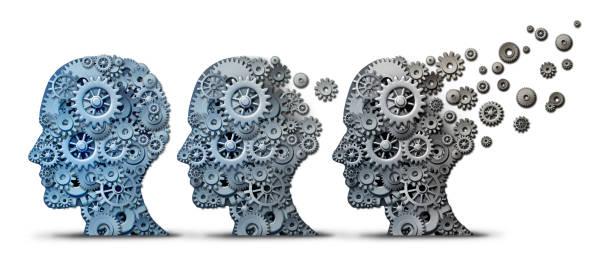 Alzheimer Dementia Brain Disease stock photo