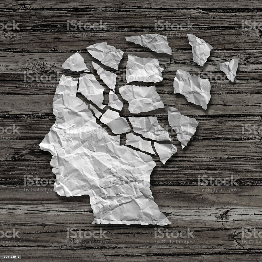 Alzheimer Patient stock photo