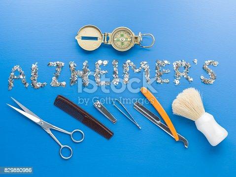 istock Alzheimer's Disease Concept Via Clockworks On Blue Background 829880986