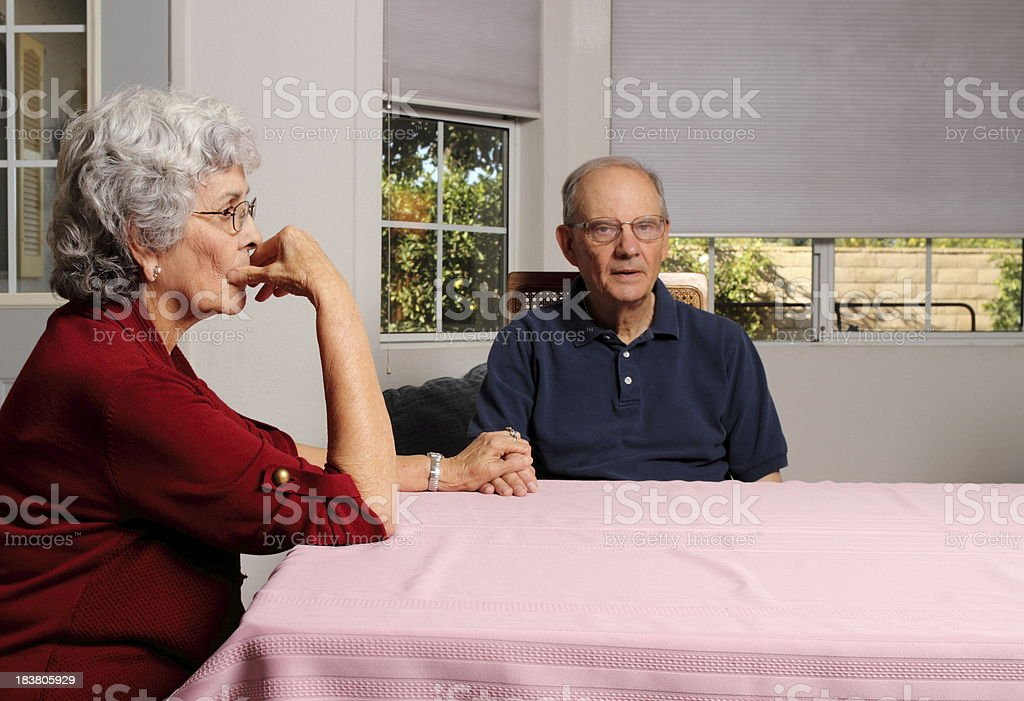 Alzheimers Wife is Worried Horizontal royalty-free stock photo