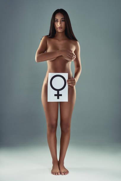 I am a female, I already define femininity stock photo