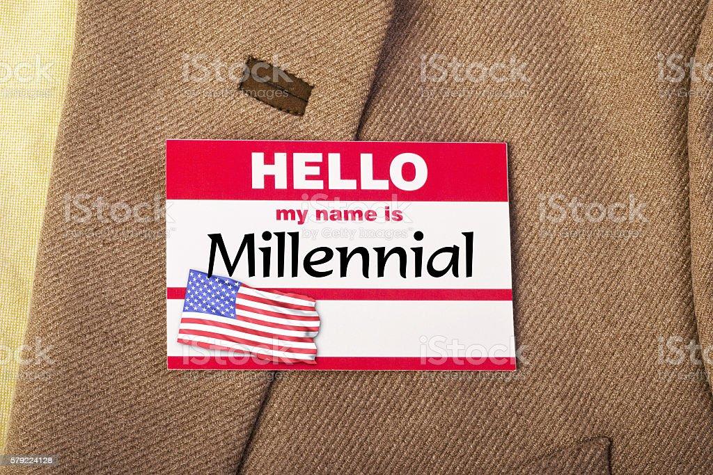 I am a Millennial. stock photo