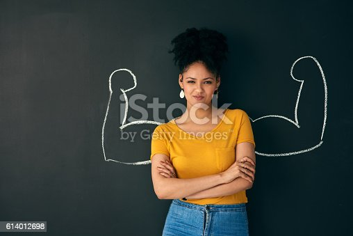 istock I am a strong woman! 614012698