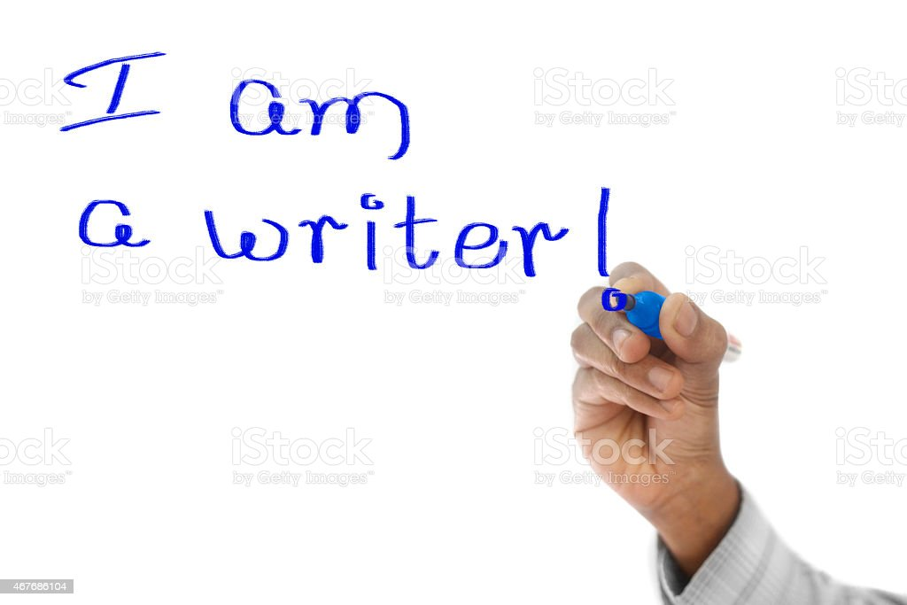 I am a writer stock photo